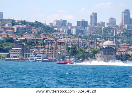 powerboat p1 turkey - stock photo