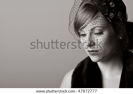 Powerful Black and White Shot of a Woman in Mourning