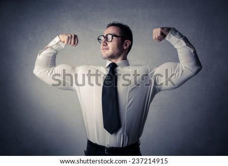Powerful businessman  - stock photo