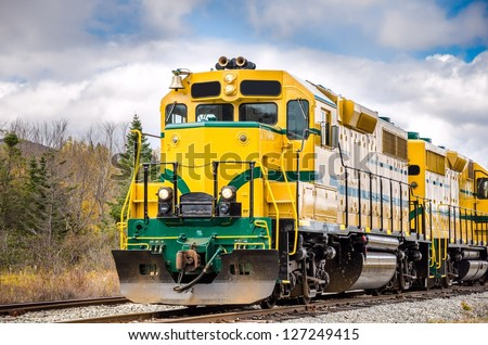 Powerful Diesel Locomotive - stock photo