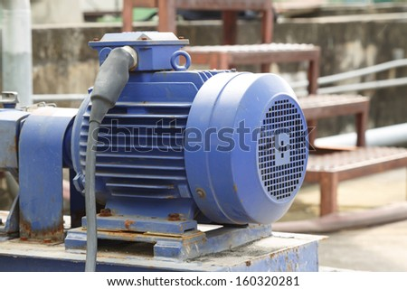 powerful electric motors for modern industrial equipment - stock photo