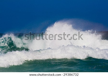 powerful ocean wave - stock photo