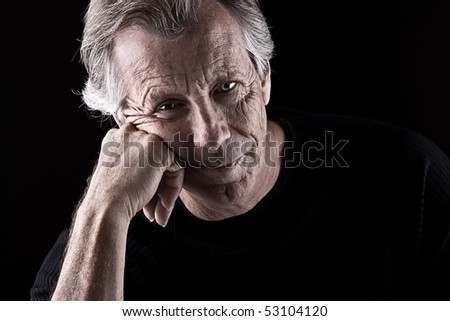 Powerful Shot of a Frustrated Senior Male - stock photo