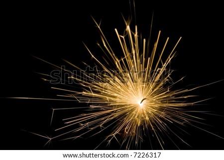 Powerful spark - stock photo