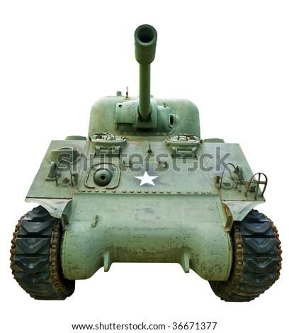 Powerful Tank, General Stuart Model - stock photo
