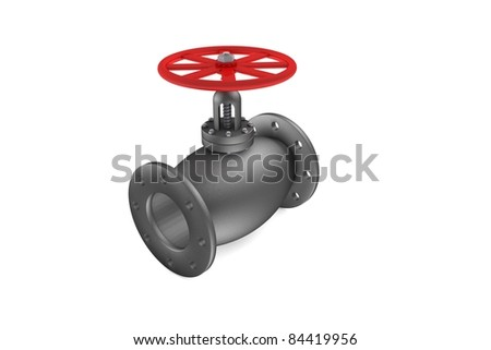 Powerful valve - stock photo