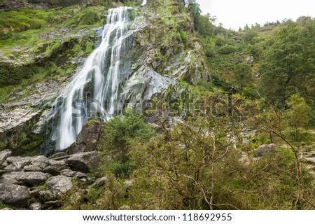 Powerscourt waterfall, Co Wiclow, Dublin, Ireland - stock photo