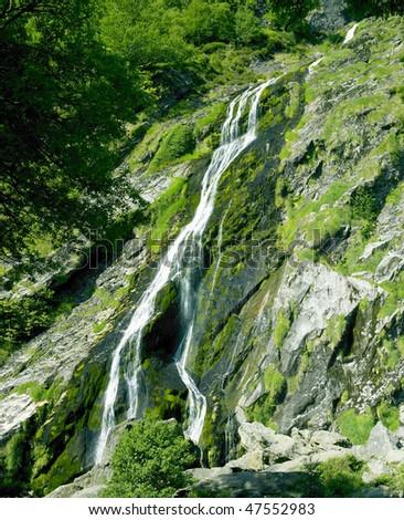 Powerscourt Waterfall, County Wicklow, Ireland - stock photo