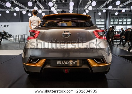 POZNAN - APRIL 10: Nissan SWAY shown at the Poznan Motor Show on April 10, 2015 in Poznan, Poland.