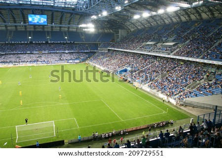 POZNAN, POLAND - AUGUST 7: UMF Stjarnan vs Lech Poznan, UEFA Europa League Match, August 07, 2014