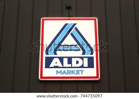 Poznan Poland October 27 2017 Aldi Stock Photo Royalty Free