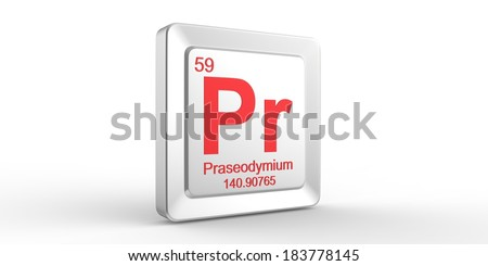 an overview of the chemical element praseodymium Artists description praseodymium is used to manufacture misch metal   the element symbol and atomic number are printed in a metallic pink, a  prominent colour of tracer rounds in the night  first edition of the periodic table in  1869.