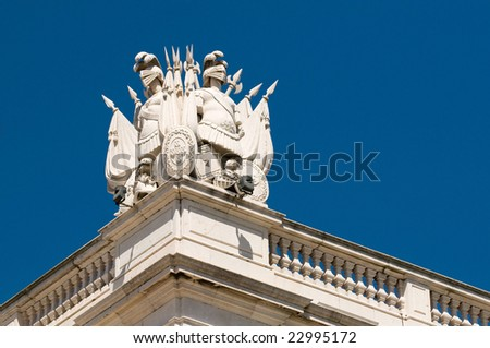 Praca do Comercio, Lisbon, Portugal - stock photo