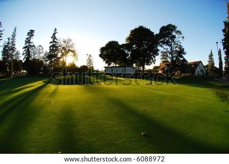 practice green - stock photo