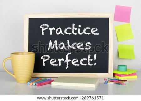 Practice Makes Perfect - stock photo