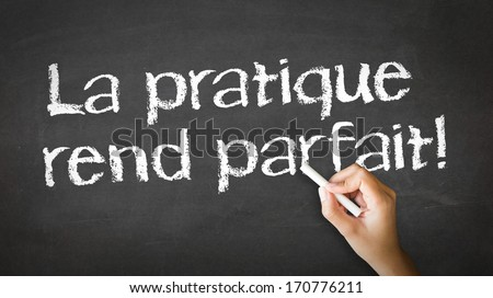 Practice Makes Perfect (In French) - stock photo