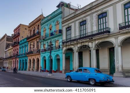 Prado Street - Havana, Cuba - stock photo