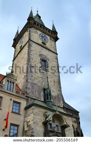 Prague Astronomical Clock in the Old Town of Prague