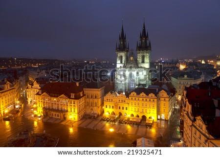 Prague By Night - stock photo