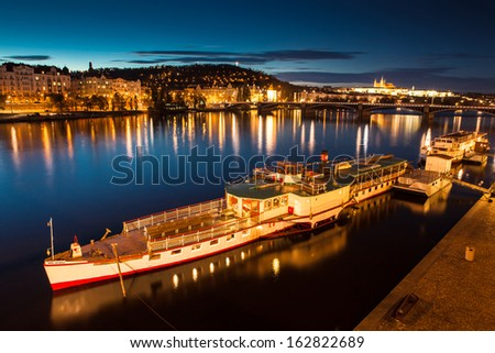 Prague by night, Czech Republic, Europe - stock photo