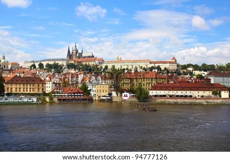 Prague Castle in the Czech Republic - stock photo