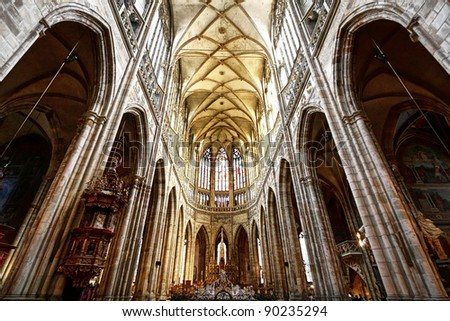 Prague Cathedral - stock photo