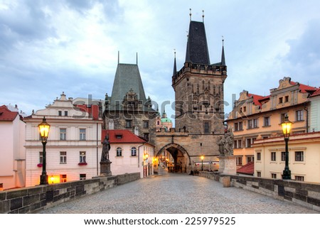 Prague - Charles bridge, Czech Republic - stock photo