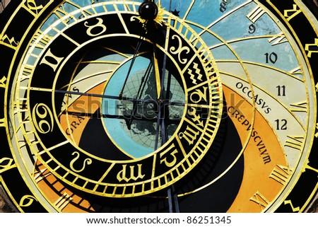 Prague clock - stock photo