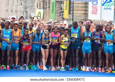 Prague, Czech  Republic - 5Â?Â? April, 2014: Half Marathon Praha - stock photo