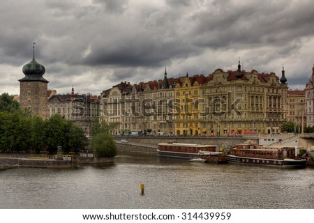 PRAGUE, CZECH REPUBLIC - JULY 1, 2014: Prague is the capital of the Czech Republic. One of the most visited cities in Europe. Lots of sights for walks - stock photo