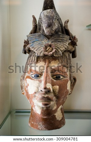 PRAGUE, CZECH REPUBLIC - JUNE 29, 2015: Exponates of the Choco-story museum in Prague. It is the chocolate museum in Prague
