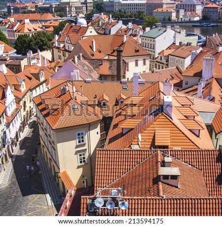 Prague, Czech Republic, on July 10, 2010. View of the city of a survey platform