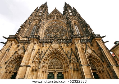 Prague gothic cathedral
