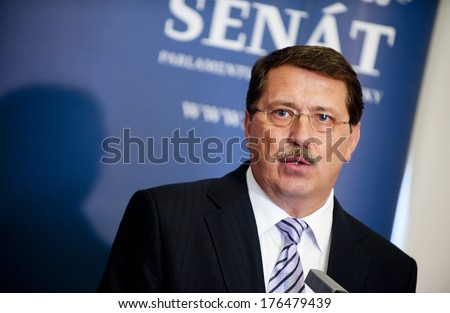 PRAGUE - JUNE 4: Slovak politician Pavol Paska during press conference in Prague, Czech republic, June 4, 2012.