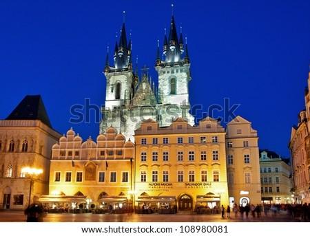 Prague Old square - stock photo