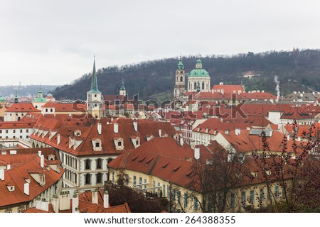 Prague old town landscape winter time, Czech Republic - stock photo