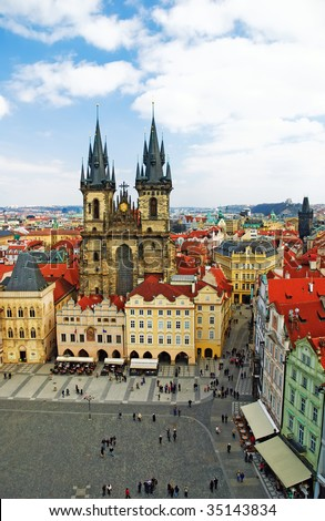 Prague, Old Town Square - stock photo