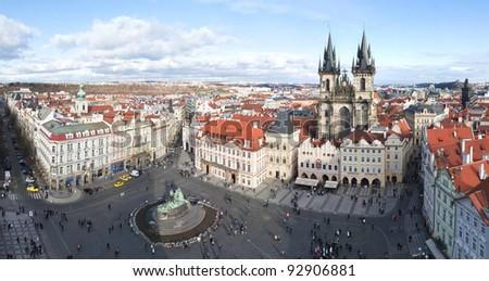 Prague, Old Town Square. Staromestske namesti - stock photo