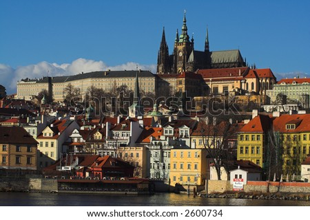Prague panorama - stock photo