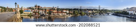 Prague panoramic view, Czech Republic. - stock photo