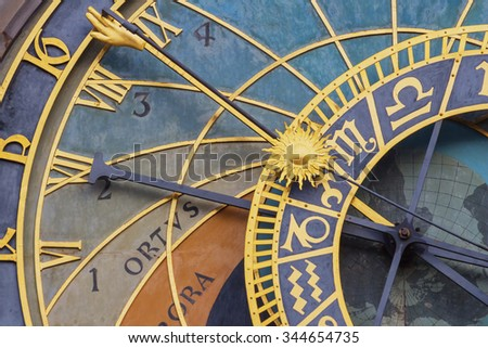 Prague's Astronomical Clock in Old Town Square