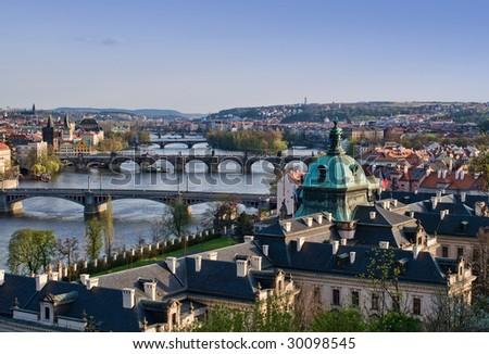 Prague's Bridges - stock photo