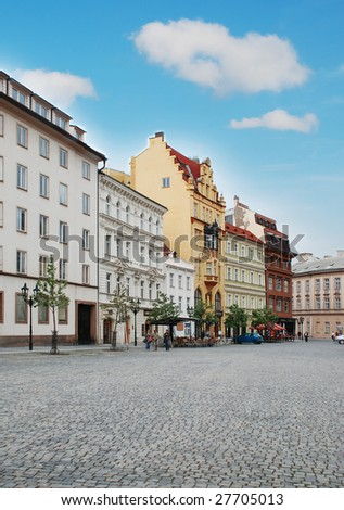 Prague Street - stock photo