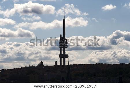 Prague, Zizkov Television Tower, Czech Republic - stock photo