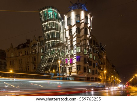Praha, Czech Republic, Dancing House in Prague, Ginger and Fred