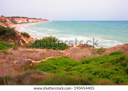 Praia de Falesia, Algarve, Portugal.  - stock photo