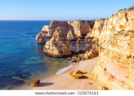 Praia de Marinha in the Algarve Portugal