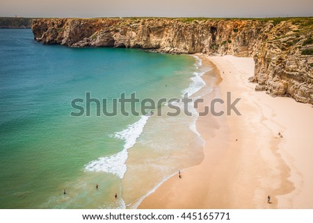 Praia do Beliche - beautiful coast and beach of Algarve, Portugal