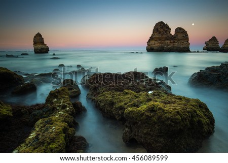 Praia do Camilo, Portugal - stock photo
