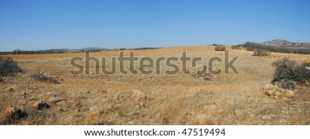 prairie panorama from wichita mountains - stock photo